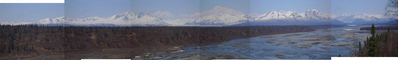 Chulitna River and Denali.