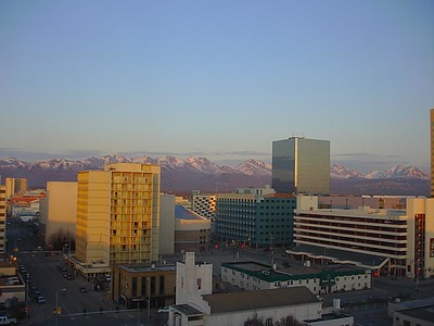 Sunset over Anchorage at 10:30pm.