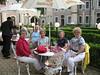 Jean, Louise, Charlotte and Judith enjoying before dinner champagne -<br /> Stekl Restaurant