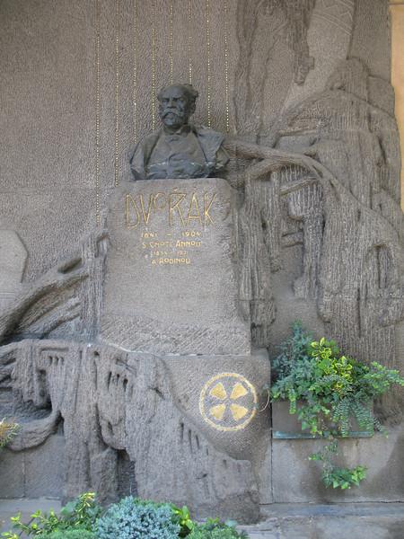 Dvorak's Grave at Vysehrad Cemetery