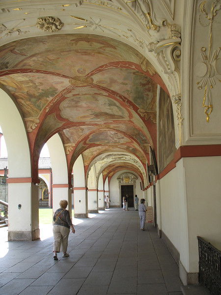 Corridor, Grounds at Sacred Mount