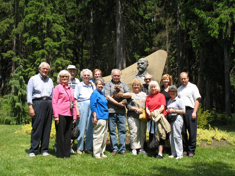 Group with the Dvoraks (grandson, Antonin III, in the middle holding the dog and Peter, great grandson, on the far right)