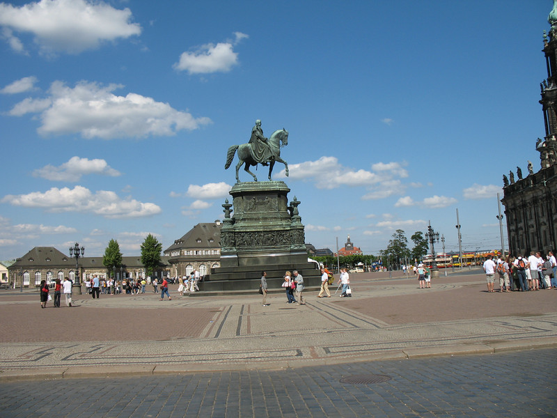 One of the m any city squares in Dresden