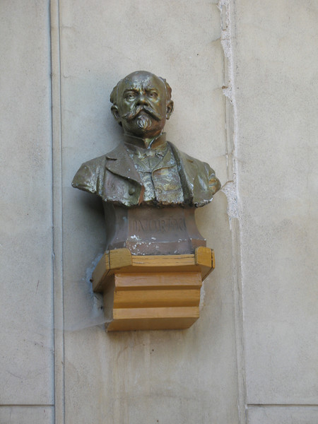 Bust of Antonin Dvorak (Wall of his country house)