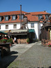 We did not eat here, but it is a quaint place with interesting roofs