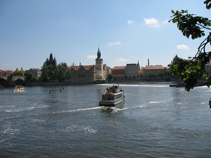 Tour boat on the Vltava River
