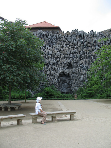 Artificial stalactite wall - Wallenstein Gardens