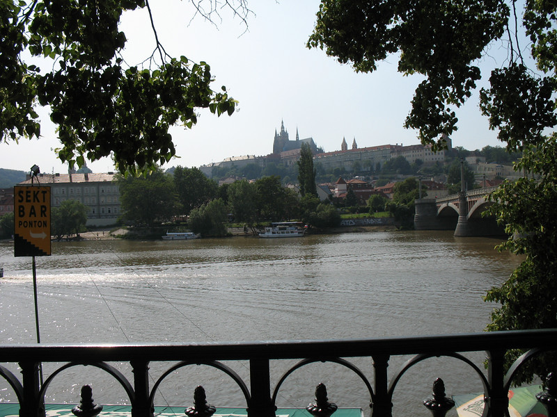 View of Prague Castle from the Vltava River