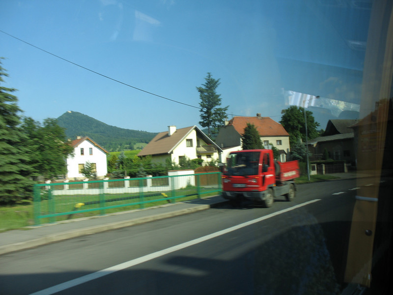 From our bus window - road to Dresden