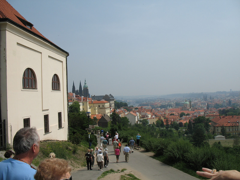 Our first view of Prague from the Strahov Monastery<br /> (Day one - May 28, 2008)