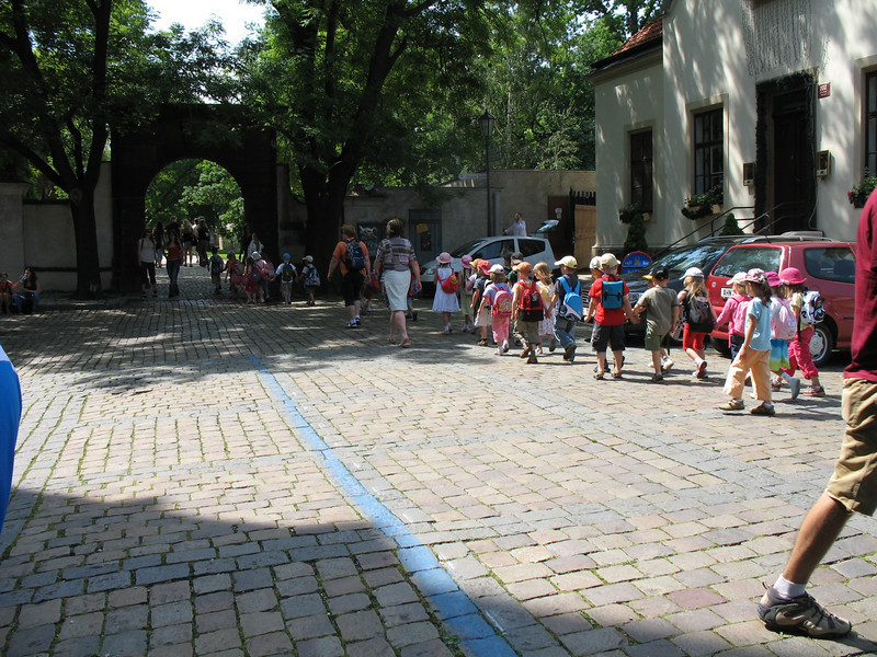 Little people touring Vysehrad fortress
