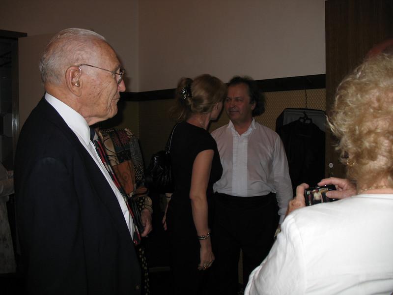 Russ (left), Judith (right) with Jirina and violinist Vaclav Hudecek