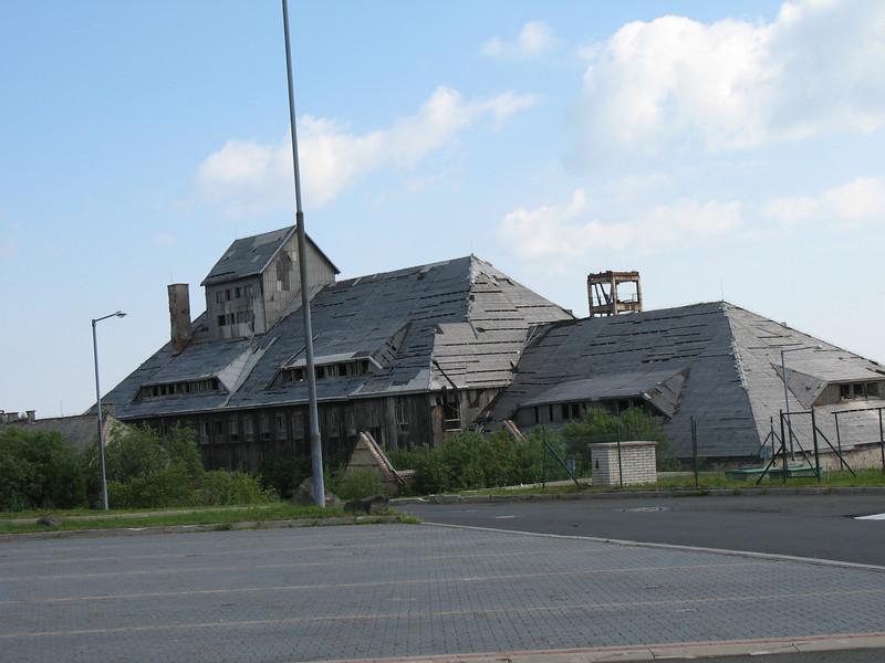 """Abandoned building next to our """"potty stop"""" (on our way to Dresden)"""