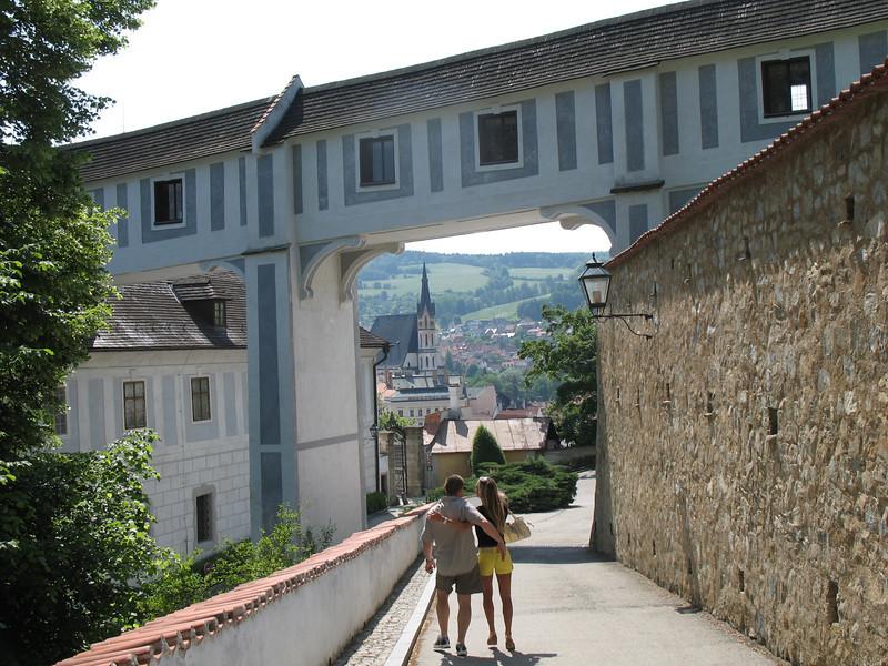 Approaching Cesky Krumlof Chateau / Castle