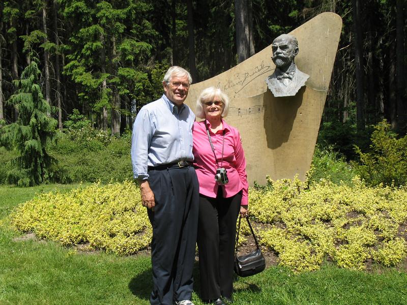 Gary and Marion at Antonin Dvorak Memorial