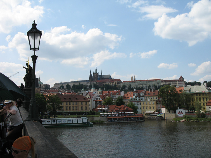 Outdoor restaurant as seen from the Charles Bridge