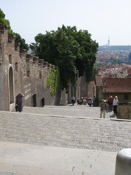 Famous steps Prague Castle
