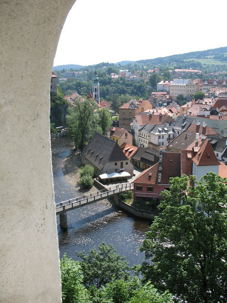 View of the Vltava (Moldau) River from the Castle
