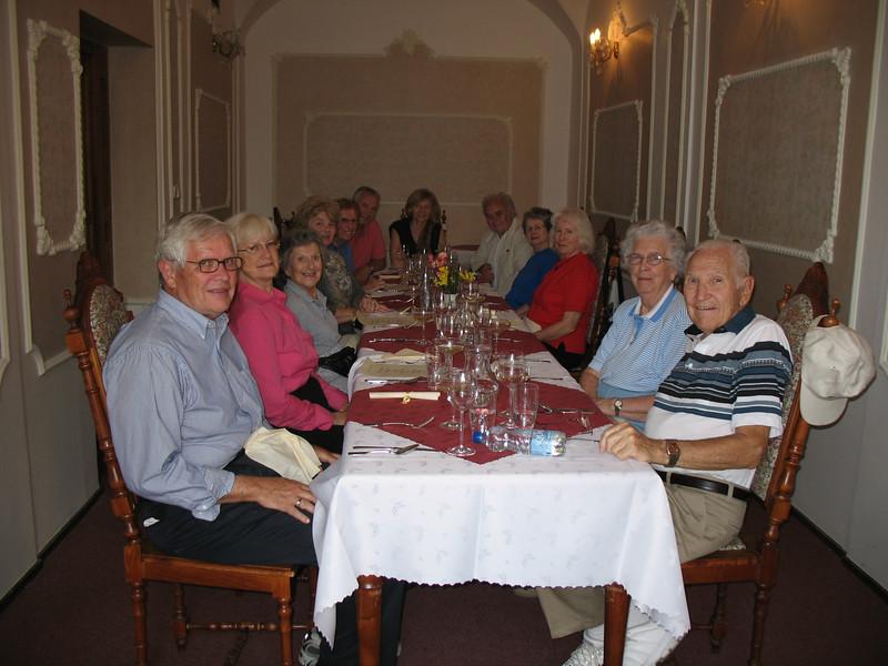 Dinner at Modry Hrozen Restaurant in Pribram