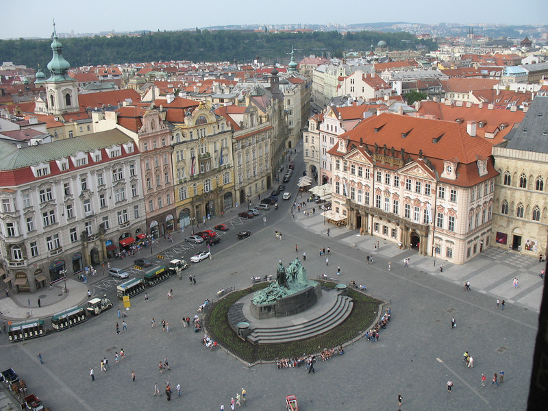 View of Old Town Square from the top of Old Town Hall