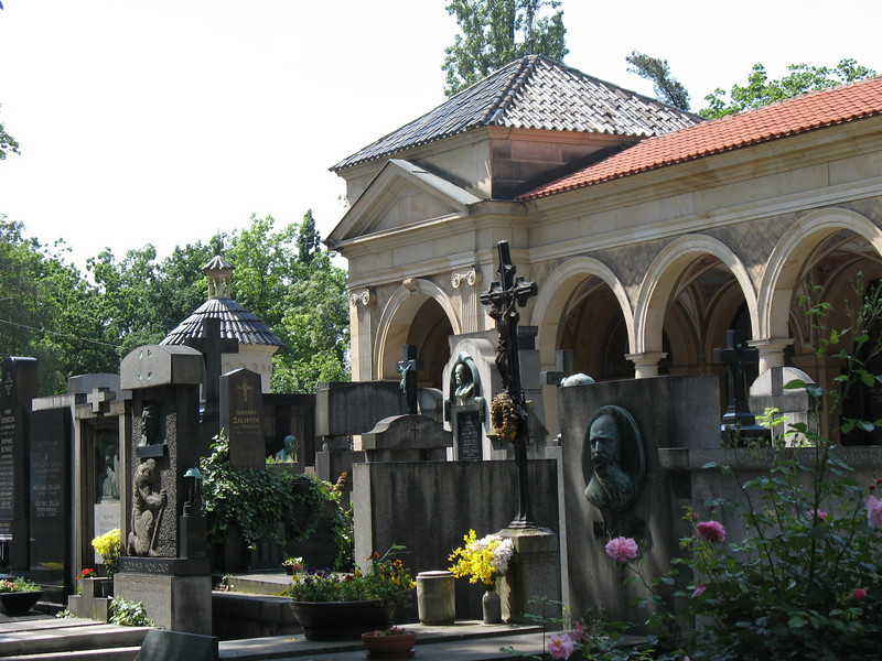 Cemetery at Vysehrad Castle