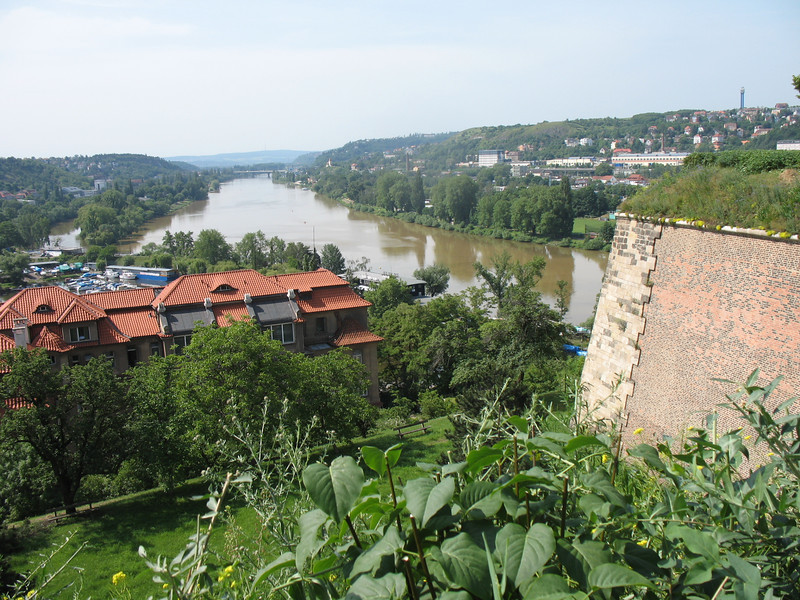 View of the river from the Vysehrad fortress