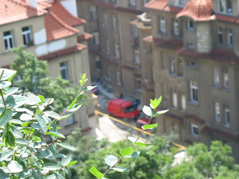 Close up view of theHospital as seen from the Vysehrad fortress