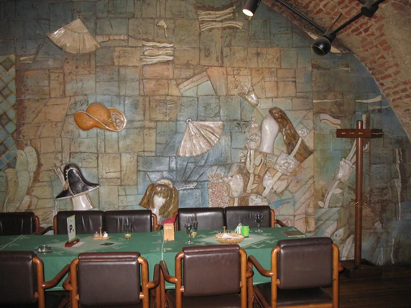 Mural in the actors/employees break room