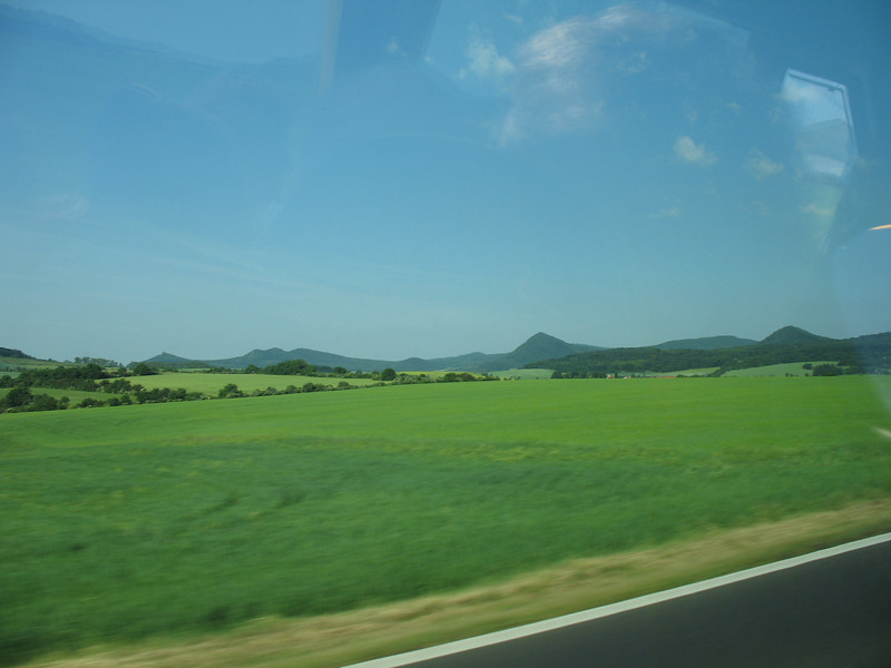 Lush green fields seen on the way to Dresden<br /> (June 5, 2008)