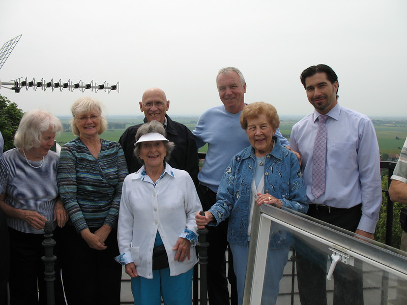 Group on tower at Mcely Chateau