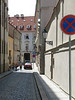 Narrow cobblestone street - Prague