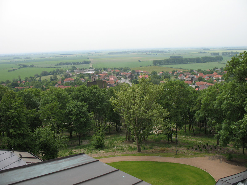 View of countryside from top of Mcely Chateau