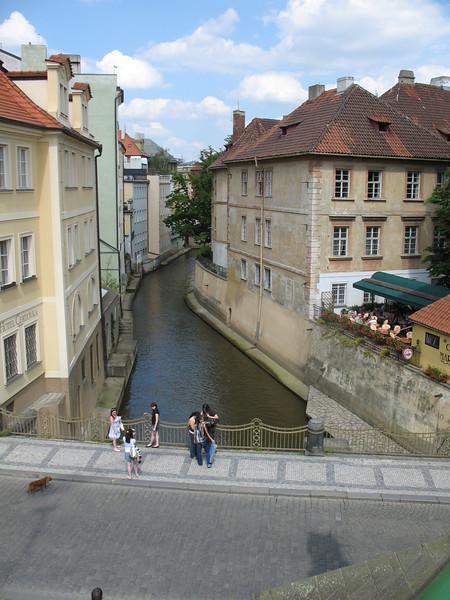 Canal near the Vltava River