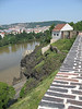 View of Vltava River from the Vysehrad Fortres
