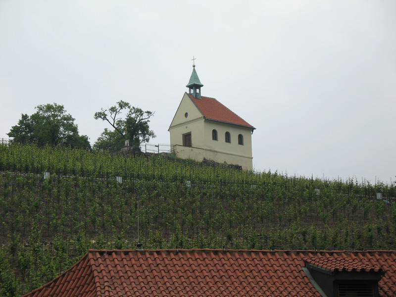 Little chapel on the hill as seen from the Troja Chateau
