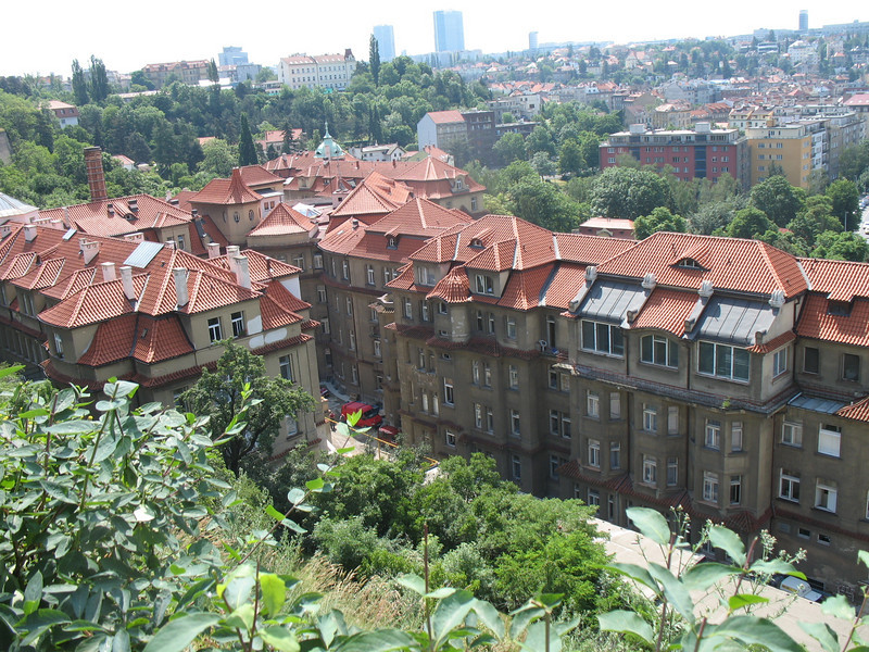 Hospital as seen from the Vysehrad fortress