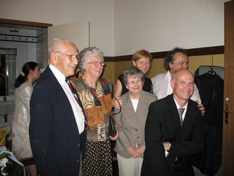 Backstage at the Smetana Hall after our first concert<br /> May 28, 2008