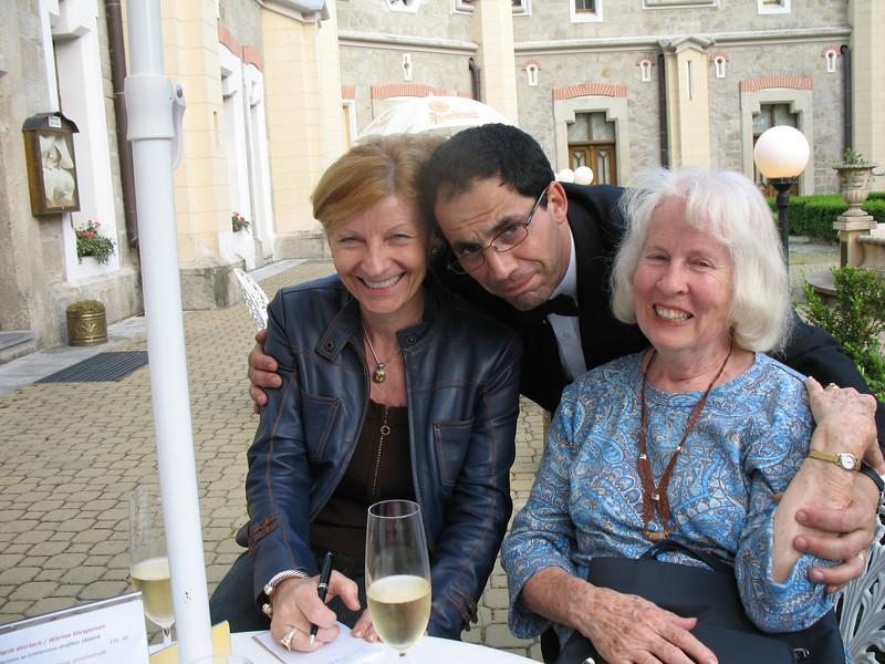 Jirina, George and Natalie at the Stekl Restaurant (Hluboka)