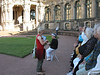 Our guide in the Zxwnger courtyard<br /> (Charlotte had the best seat)