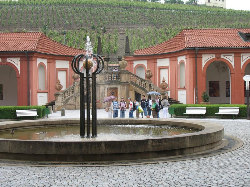 Troja Chateau courtyard