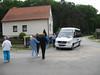 Group leaving Smetana's home