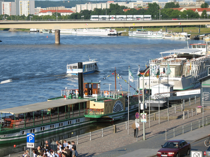 Tourist Boats on the Elbe River
