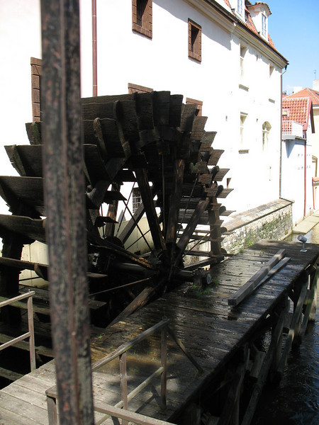 Water wheel along one of the canals (No longer in use)