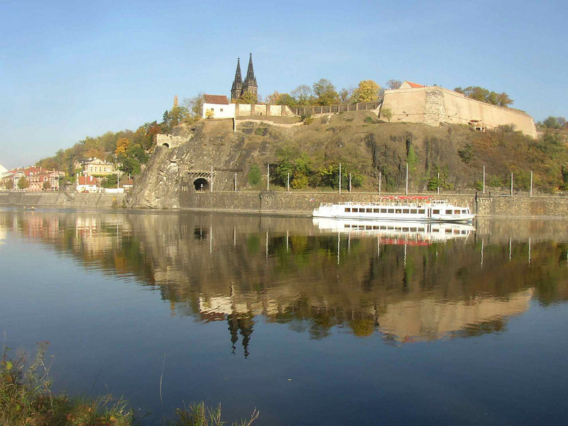 Vysehrad as seen from across the Vltava