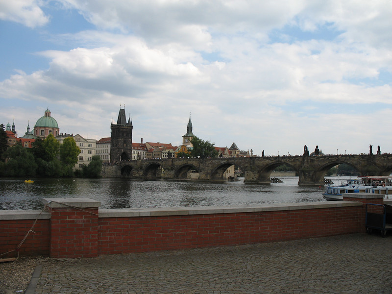The other side of the Charles Bridge