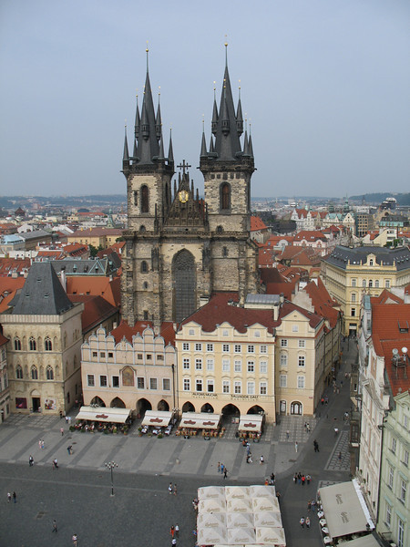 Tyn Church as seen from Old Town Hall