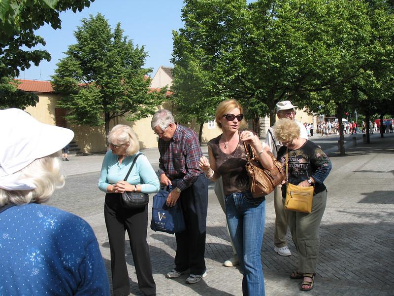 Arriving at Prague Castle Complex