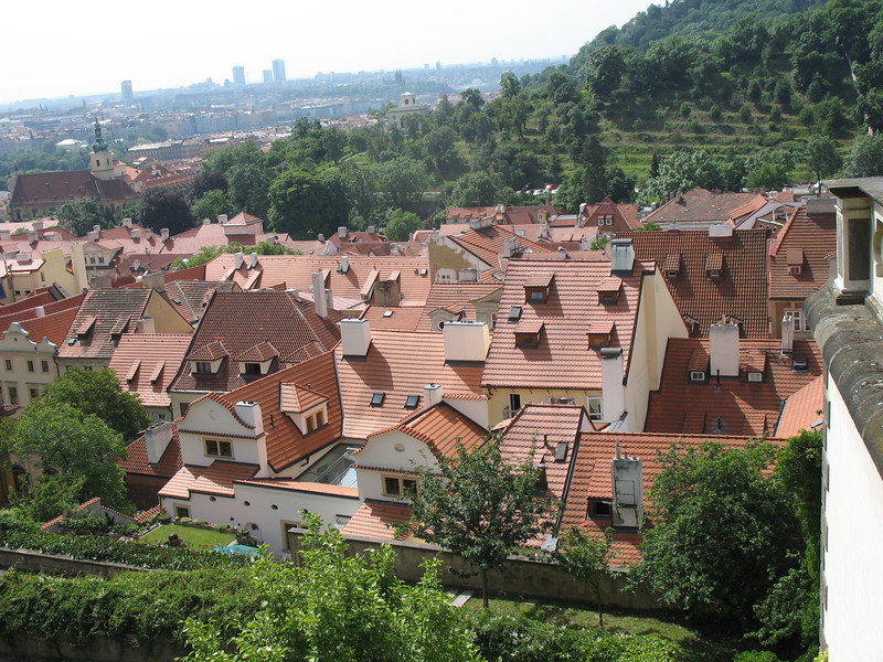 Rooftops as seen from Prague Castle