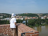 View of Vltava River from the Vysehrad Fortress