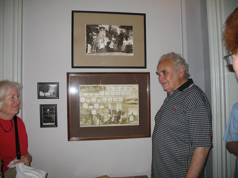 Antonin Dvorak III showing his Grandfather's Genealogy